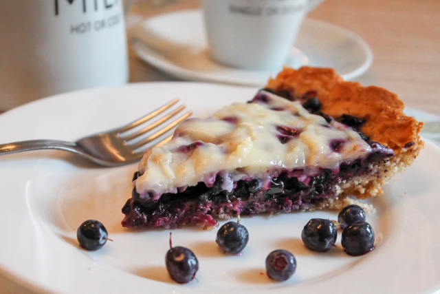 ягодный пирог под кремом Патисьер - порция 2