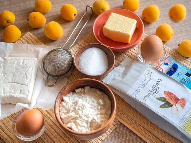 Тарт с кремом - продукты