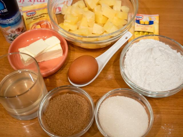 маффин с ананасом - продукты