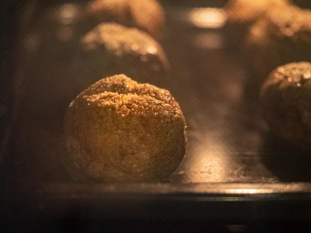 творожные булочки из ржаной муки - в духовке