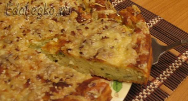 Рецепт творожного пирога — с сыром, овощами и зеленью