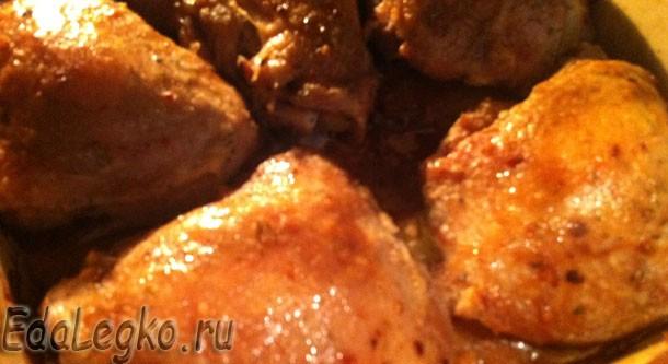Куриные бедрышки, томленые в духовке