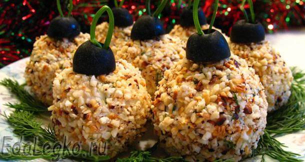 Рецепт новогодней закуски — елочные шары