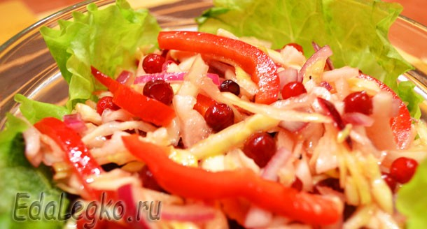 салат из капусты с перцем